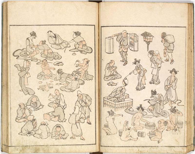 Hokusai carnet de croquis